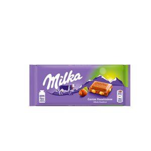 Chocolate Milka Whole Hazelnuts Bar 3.5 Oz