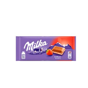 Chocolate Milka With Strawberry 3.52 Oz